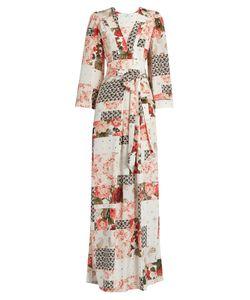 VILSHENKO | Mariya Patchwork-Print Silk Crepe De Chine Gown