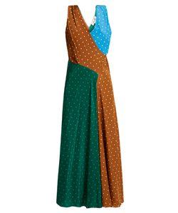 Diane Von Furstenberg | Polka-Dot Print Silk-Crepe Midi Dress