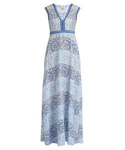 LE SIRENUSE, POSITANO | Astrid Arabesque-Print Cotton-Blend Dress