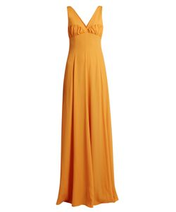 Emilia Wickstead | Fanina Crossover-Back Crepe Gown