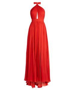 Elie Saab | Halterneck Silk-Georgette Gown