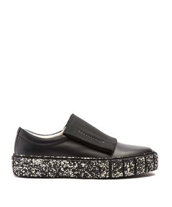 Primury | Curio Meta Speckled-Print Slip-On Leather Trainers