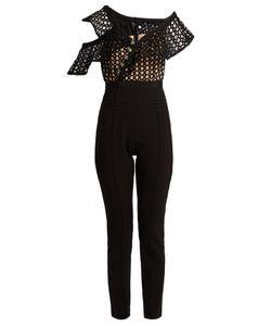 SELF-PORTRAIT | One-Shoulder Guipure-Lace Jumpsuit