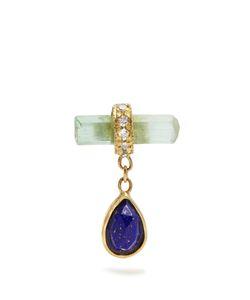 JACQUIE AICHE   Diamond Crystal Lapis Earring