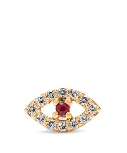 Ileana Makri | Diamond Ruby Roseearring