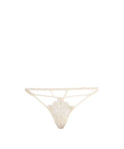 COCO DE MER | Pandion Embroidered-Lace Thong