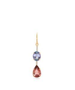 IRENE NEUWIRTH   Diamond Tourmaline Tanzanite Rose Earring