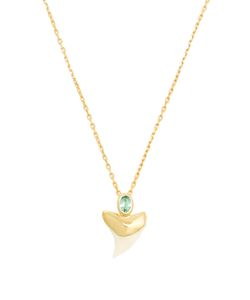 THEODORA WARRE   Apatite Sharks-Tooth And Plated Necklace