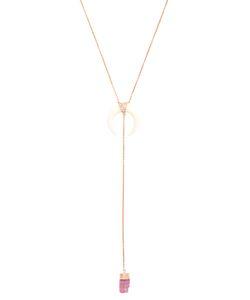 JACQUIE AICHE   Diamond Tourmaline Bone-Horn Necklace