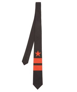 Givenchy | Star And Stripe-Print Cotton Tie