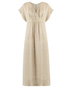 Masscob | V-Neck Crinkled Linen-Blend Dress