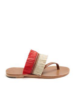 ÁLVARO | Alberta Raffia-Embellished Sandals