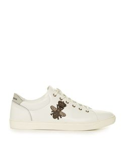 Dolce & Gabbana | Crown And Bee-Embroide Low-Top Leather Trainers