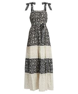 Athena Procopiou | Night Dream Print Cotton-Blend Maxi Dress