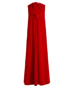 Maison Rabih Kayrouz | Sleeveless Neck-Tie Cotton-Velvet Gown