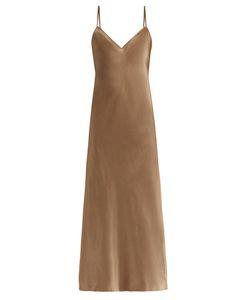 Vince   Sleeveless Satin Midi Dress