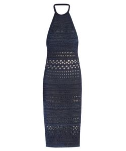 Balmain | Halterneck Crochet Midi Dress