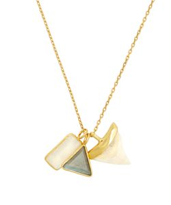 THEODORA WARRE   Multi-Stone And Plated Necklace