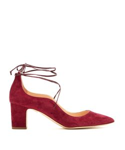 Rupert Sanderson | Poet Point-Toe Suede Pumps