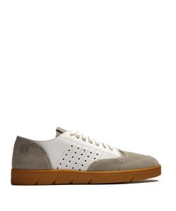 Loewe | Low-Top Leather And Suede Trainers