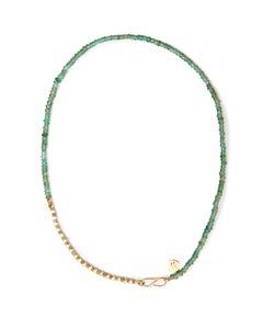 JADE JAGGER | Diamond Emerald Necklace