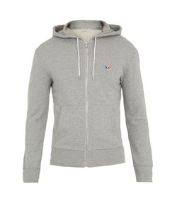 Maison Kitsune | Hooded Zip-Through Cotton Sweatshirt