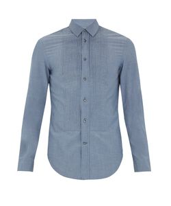 Maison Margiela | Pleated-Bib Cotton Shirt