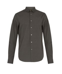 Paul Smith | Geometric-Print Cotton-Poplin Shirt