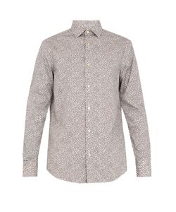 Paul Smith | Micro Print Cotton-Poplin Shirt