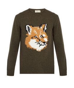 Maison Kitsune | Fox-Intarsia Wool Sweater