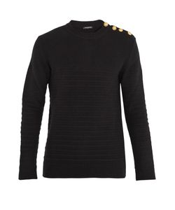 Balmain | Button-Shoulder Wool Sweater