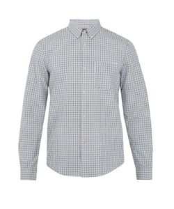 A.P.C. | Mick Checked Cotton And Linen-Blend Shirt
