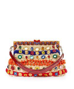 Dolce & Gabbana | Vanda Embellished Raffia Clutch