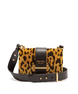 Prada | Cahier Velvet And Cross-Body Bag
