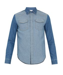 Maison Margiela | Contrast-Panel Denim Shirt