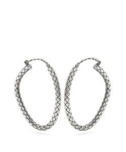 Bottega Veneta | Intrecciato-Engraved Hoop Earrings