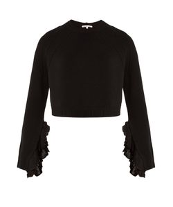 Helmut Lang | Ruffle-Trimmed Wool And Cashmere-Blend Sweater
