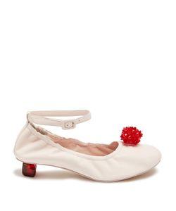 Simone Rocha   Embellished Perspex-Heel Leather Pumps