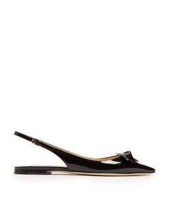 Jimmy Choo | Blare Point-Toe Slingback Patent-Leather Flats