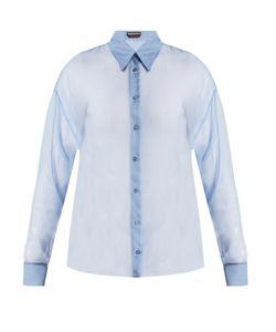 Rochas | Point-Collar Silk-Chiffon Shirt