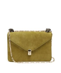 Valentino | Panther-Embellished Suede Shoulder Bag