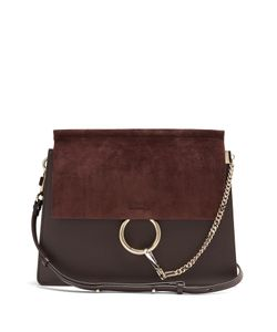 Chloe | Faye Medium Leather And Suede Shoulder Bag
