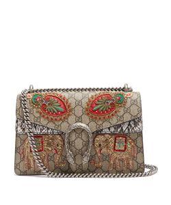 Gucci | Dionysus Gg Supreme Embroidered Shoulder Bag