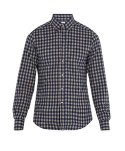 Boglioli | Single-Cuff Checked Cotton-Flannel Shirt