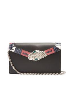Gucci | Lilith Mini Snakeskin-Trimmed Leather Shoulder Bag