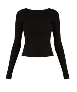 Tibi | Tie-Back Seamless Ribbed-Jersey Top