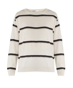Brunello Cucinelli | Monili-Embellished Striped Cashmere Sweater