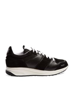 Ami | Low-Top Leather And Suede-Panelled Trainers