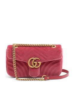Gucci | Gg Marmont Small Quilted-Velvet Cross-Body Bag