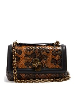 Bottega Veneta | Olimpia Knot Intrecciato-Leather Cross-Body Bag